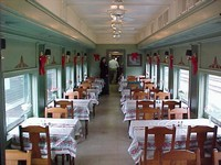 image of the dining car interior